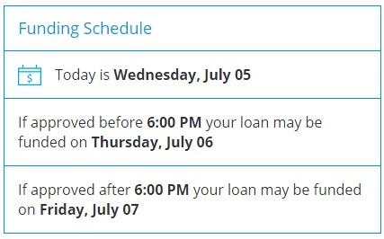 CashNetUSA funding schedule