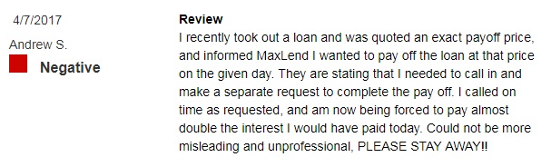 Maxlend review 2