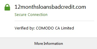 12MonthsLoansBadCredit secure connection