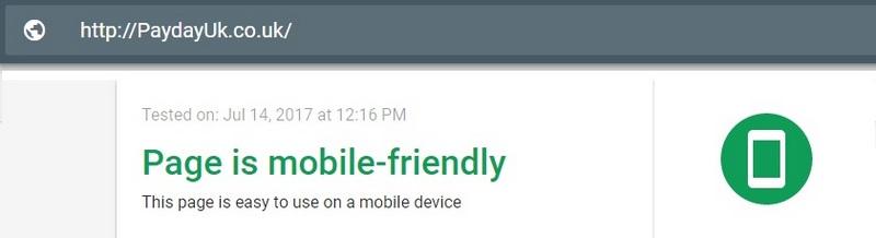 PaydayUk mobile version