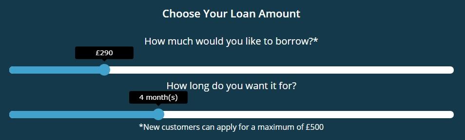 Cash4uNow online calculator