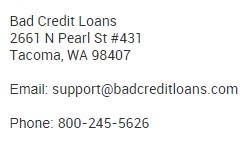 badcreditloans contact