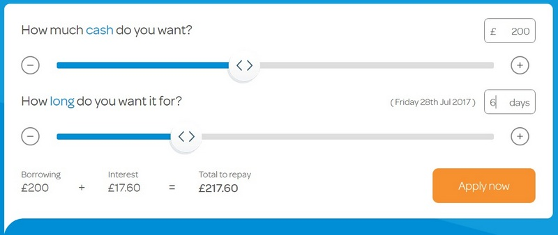 Wonga calculator