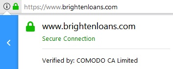 Brightenloans secure connection