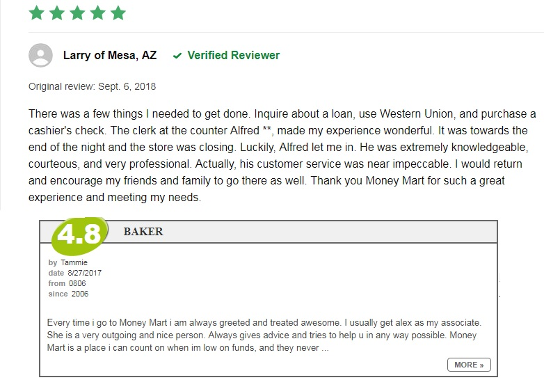 good reviews