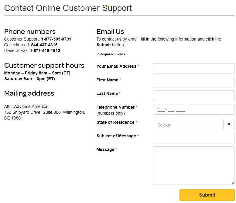 online loan support