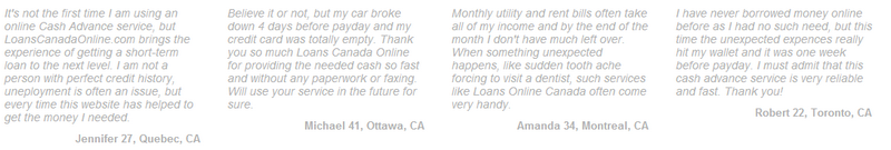 reviews on Loans Canada Online